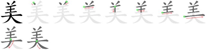 羊田字格笔画